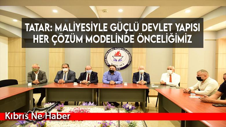 Tatar: Maliyesiyle güçlü devlet yapısı her çözüm modelinde önceliğimiz