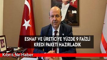 Başbakan Tatar: Esnaf ve üreti̇ci̇ye yüzde 9 fai̇zli̇ kredi̇ paketi̇ hazırladık