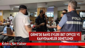 Girne'de Bahis Evleri (Bet Office) Ve Kahvehaneler Denetlendi