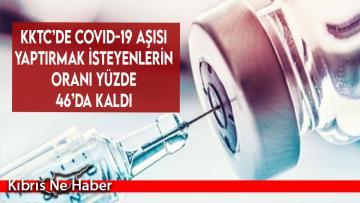 KKTC'de COVID-19 aşısı yaptırmak isteyenlerin oranı yüzde 46'da kaldı…