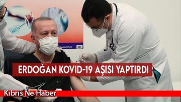 Erdoğan Kovid-19 aşısı yaptırdı