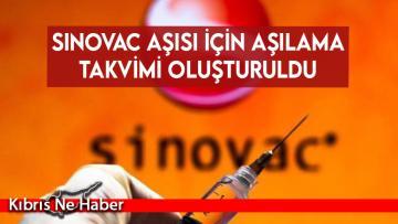 Sinovac aşısı için aşılama takvimi oluşturuldu