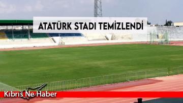 Atatürk Stadı temizlendi
