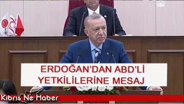 TC Cumhurbaşkanı Recep Tayyip Erdoğan meclis konuşmasında ABD'li yetkililere bir mesaj verdi…