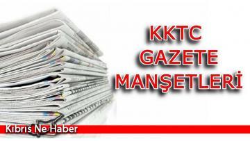 KKTC Gazete Manşetleri (15 Ekim 2021)