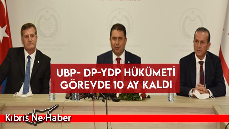 UBP- DP-YDP Hükümeti Görevde 10 Ay Kaldı