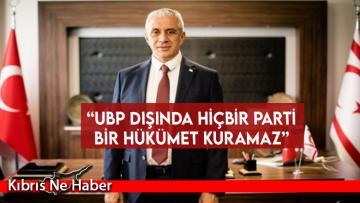 Taçoy: UBP dışında hiçbir parti bir hükümet kuramaz