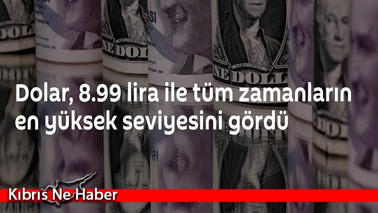 Dolar, 8.99 lira ile tüm zamanların en yüksek seviyesini gördü